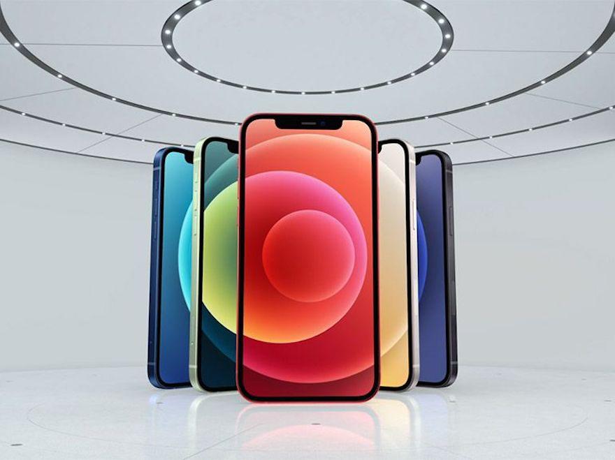 5-IPhone-12-couleurs-noirs-bleu-vert-rouge-jaune-et-noir